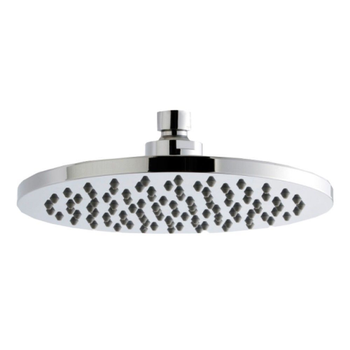 Round Chrome Plated Brass Fixed Shower Head 200mm Diameter